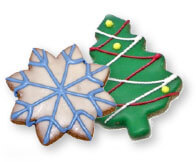 christmass tree shaped cookie